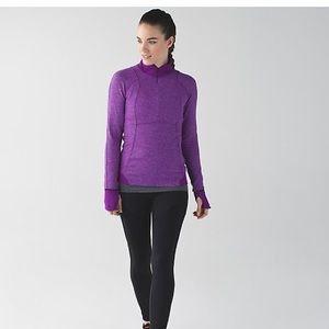 Lululemon Runderful 1/2 Zip Tender Violet